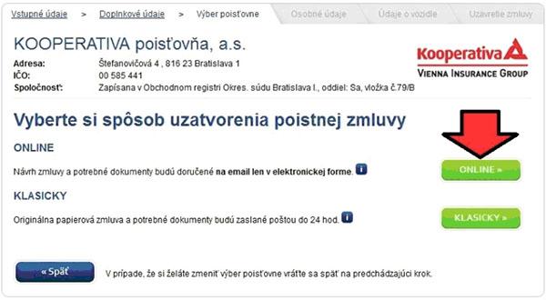 Komplexné PZP online už aj u Kooperativy!