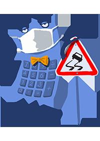 Maskot kalkulačka – HAV
