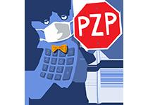 Maskot kalkulačka s rúškom – PZP