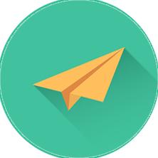 Papierové lietadlo – doručenie dokumentov