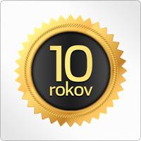 Emblém 10 rokov - súťaž Vyhrajte 10xPZP!