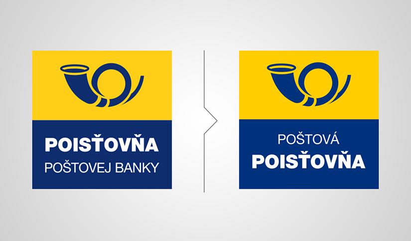 pôvodné a nové logo Poštovej poisťovne