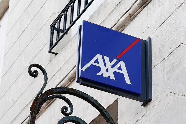 vývesný štít AXA na budove