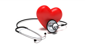Srdce a stetoskop